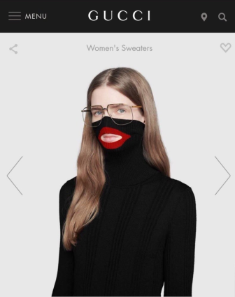 Gucci turtleneck that was removed from their website.
